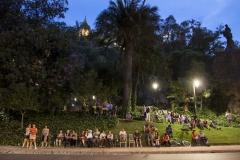 9 Público en el cerro Sta Lucía