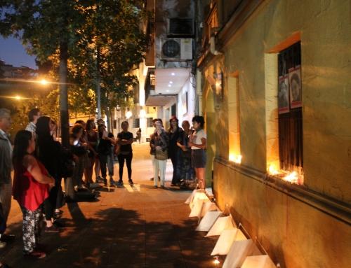 Velatón previo al 8M recuerda a las compañeras asesinadas en dictadura y en democracia