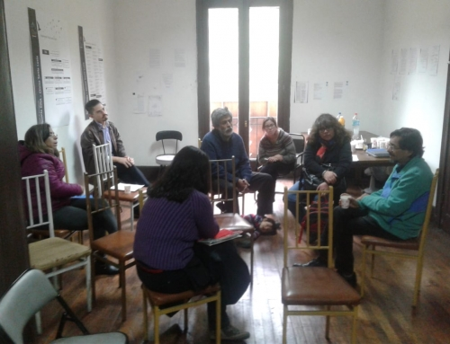 Visita guiada a personas vinculadas a la educación en el Sitio de Memoria Ex-Clínica Santa Lucia.